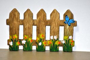 Daffodil Fence Magnet For Sale by BlueSolitaire
