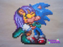 Sonic Mina Kissing Bead Sprite by SerenaAzureth