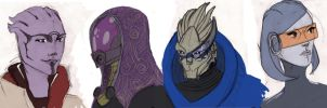 Mass Effect draws by Tigerlily1691