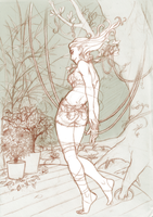 Poison ivy - sketch by melusineistross
