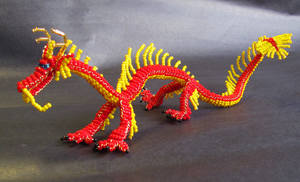 Beads: Red Oriental Dragon by OoZepheroO