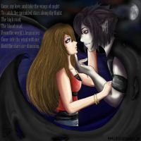the vampire and his love by Azleas