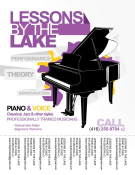 Lessons by the Lake Flyer by amitjakhu