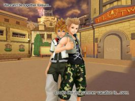 hayner and roxas by nils23