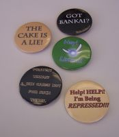 'Geeky' Quote-y Button Set by Jianre-M