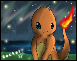 Rocket the Charmander by Rhaenn