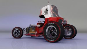 Red Baron Hot Rod left rear by TequilaBill