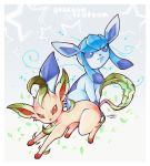 Pkmn - Glaceon and Leafeon by tomokii