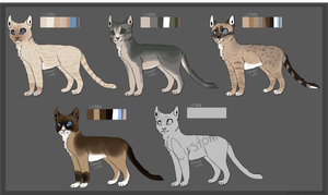 Cat Adoptables -Sheet 4- CLOSED by courtneyrc