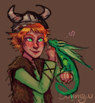 Hiccup and Toothless by SunnyUra