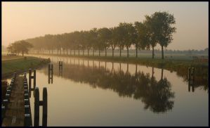 Morning at Hilversum Canal by jchanders
