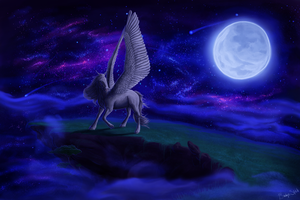 Pegasus in the Night Sky by BaukjeSpirit