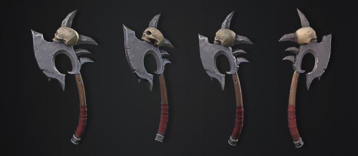 Skull Axe by kenetand2