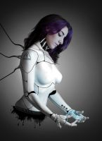Female Cyborg  III - Electric by Enn-SRSBusiness