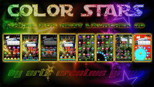 Next Launcher 3D: Color stars Theme by ArtsCreativeGroup