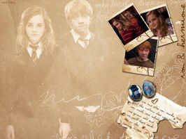 Ron+Hermione Wallpaper 02 by witch-fairy