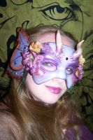 Amethyst Fairy Mask on Me by EMasqueradeGallery