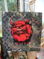 Box Canvas - Cacodemon by Gaz-de-la-Raz