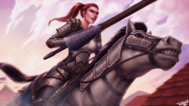 A Valiant Joust by PersonalAmi
