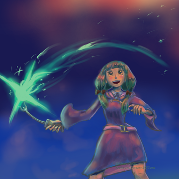 Little Witch Academia - Fireworks Magic by SoulsCore