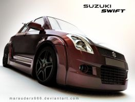 Suzuki Swift front by marauderx666
