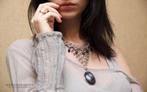Necklace 'Northern sylph' by Madormidera