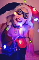 Christmas Harley Quinn! by kittylappincosplay