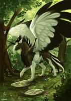Commission: Deep green by Brissinge