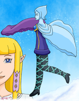 Fi and Zelda by MelodyCrystel