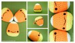 Amigurumi Candy Corn 2 by pocket-sushi