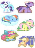 MLP Cute Awesome or Silly Poses of the Mane 6 by lcponymerch