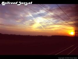 Railroad Sunset by Fox82