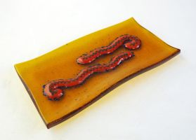 Ebola Fused Glass Dish by trilobiteglassworks