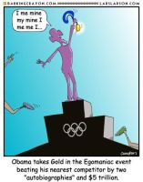 Obama the Olympian by Conservatoons
