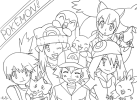 PKMN lineart by Endless-Rainfall