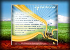 Andy Arias Spring Mix CD Back by badendesing