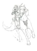 Link and Epona by ElderAutumnMoon
