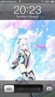 Iphone Neptunia Noire Black Heart by Akw-Art-Design