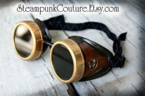 Aged gold brass Goggles by ByKato