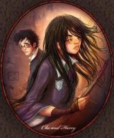 Cho and Harry by la-maiii