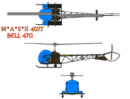 Bell 47 MASH 4077 by bagera3005