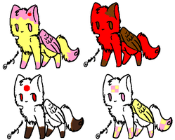 Flying Kitties adoptables 2 by animelover1123