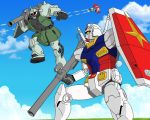 Mobile Suit battle by farstar09