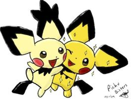 Pichu Sisters by Popokino