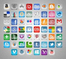 3D Social Buttons Update by MAUXWEBMASTER