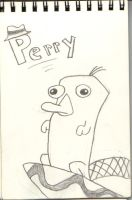 Its Perry the platypus by BloodThirstyWolfGirl