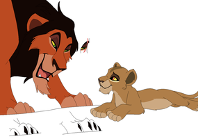 Scar and little Zira base by ChubNarwhalBases