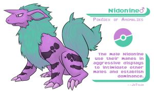 Pokedex of Anomalies: Nidonine Male by JoTyler