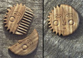Sun and Moon comb by pagan-art