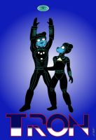 Tron 1982 Title by NeroUrsus